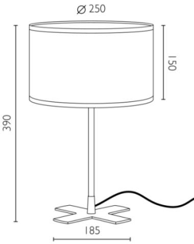 Tischleuchte Bulb Attack Once 1/T Dimensionen
