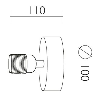 Dimensions of Bulb Attack Uno Basic W1 wall lamp
