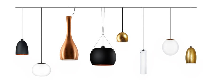 Ceiling pendant lamps and light fittings