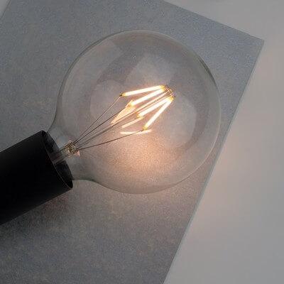Filament LED Bulb - Globe L dimmable E27