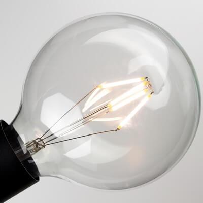 Globe L Filament Light Bulb for E27 socket, dimmable