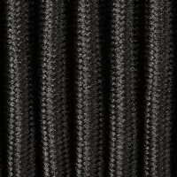 Black textile power cable
