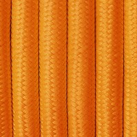Orange fabric power cable