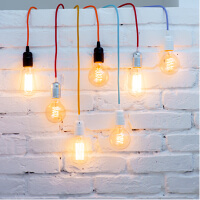 Decorative power cable for pendant lamps in many colours