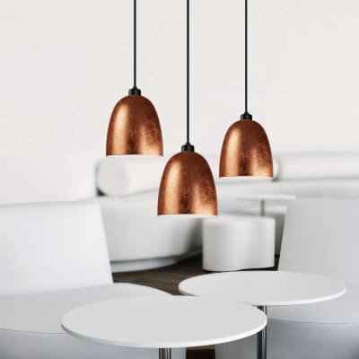 Sotto Luce Awa Elementary pendant lamp with copper shade