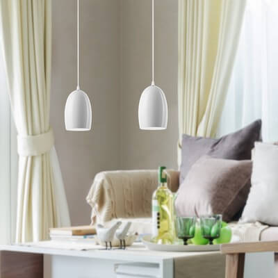 Sotto Luce Ume 2/S pendant lamp with opal lamp shade
