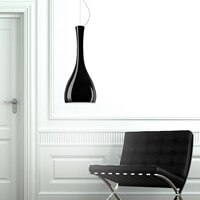 Black opal hanging lamp Sotto Luce Itteki