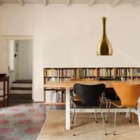 Designer ceiling lamp Sotto Luce Itteki copper