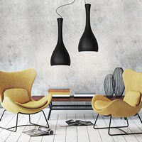 Sotto Luce Itteki 2/S with black matte lamp shade