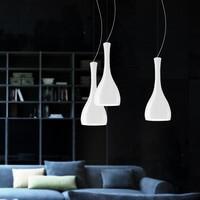 Sotto Luce Itteki pendant lamp with designer opal lamp shade