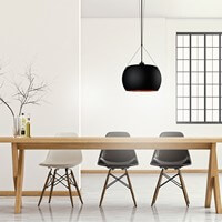 Sotto Luce Elementary Momo pendant lamp in black