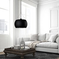 Sotto Luce Momo 1/S with black glass shade