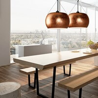 Simple pendant lamp Sotto Luce Momo Elementary copper