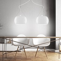 Sotto Luce Momo 2/S pendant lamp with designer opal lamp shade