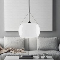 Opal glossy hanging lamp Sotto Luce Momo