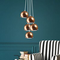 Sotto Luce Elementary Myoo pendant lamp in copper leaves
