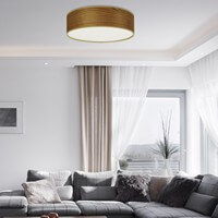 Natural wooden veneer ceiling lamp from Sotto Luce - Tsuri cherry