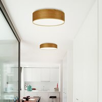 Ceiling lamp Sotto Luce Tsuri with natural wooden veneer shade - cherry