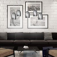 Pendant lamp Sotto Luce Ume with silver shade